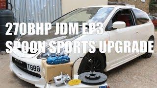Spoon Sports Big Brake Kit Upgrade for this 270bhp JDM EP3 - PerformanceCars