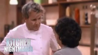 Download gordon ramsay yells at scared customer clip video for Q kitchen nightmares