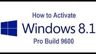 How to fix windows 8.1 pro build 9600 issue