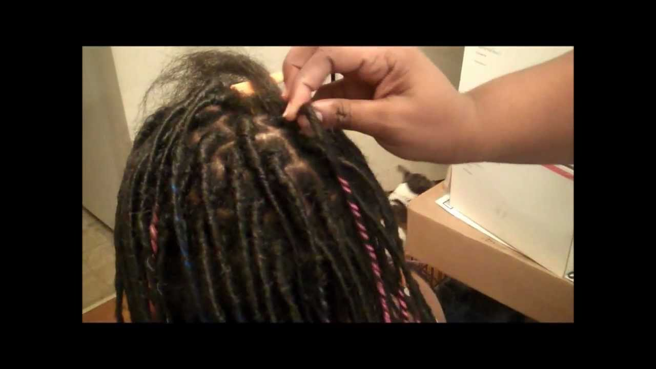 HOW TO PUT IN SYNTHETIC DREADS WITH WRAPS YouTube