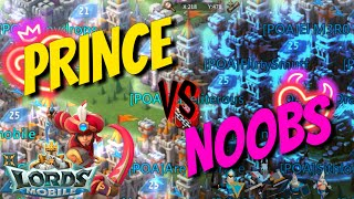 Prince Vs Noobs! - Lords Mobile
