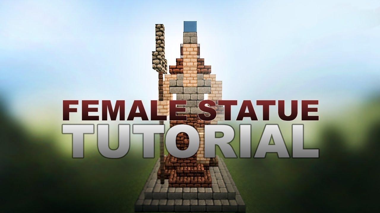 Minecraft Tutorial Female Statue  YouTube
