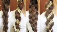 4-Strand Braid Hair Tutorial (Woven Braid + 3D Round Braid ...