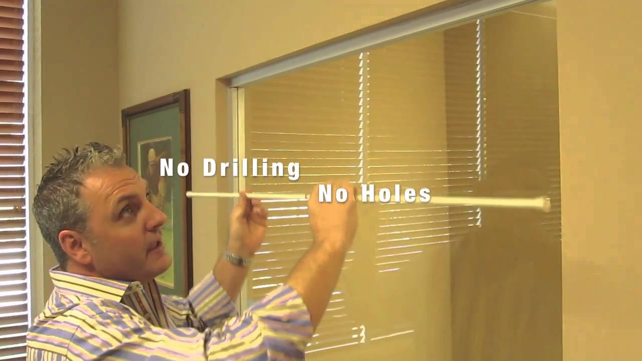 How to Install a Spring Tension Curtain Rod  YouTube