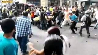 Disturbios en el centro de Medellín