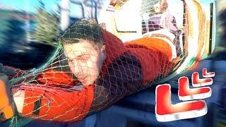 Getting Put Through Christmas Tree Netting!