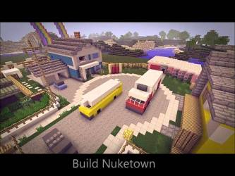 minecraft building town cool builds nuketown map modern ps3 creations nuke creation