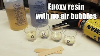 Epoxy resin - casting technique to get rid of air bubbles - no pressure pot needed