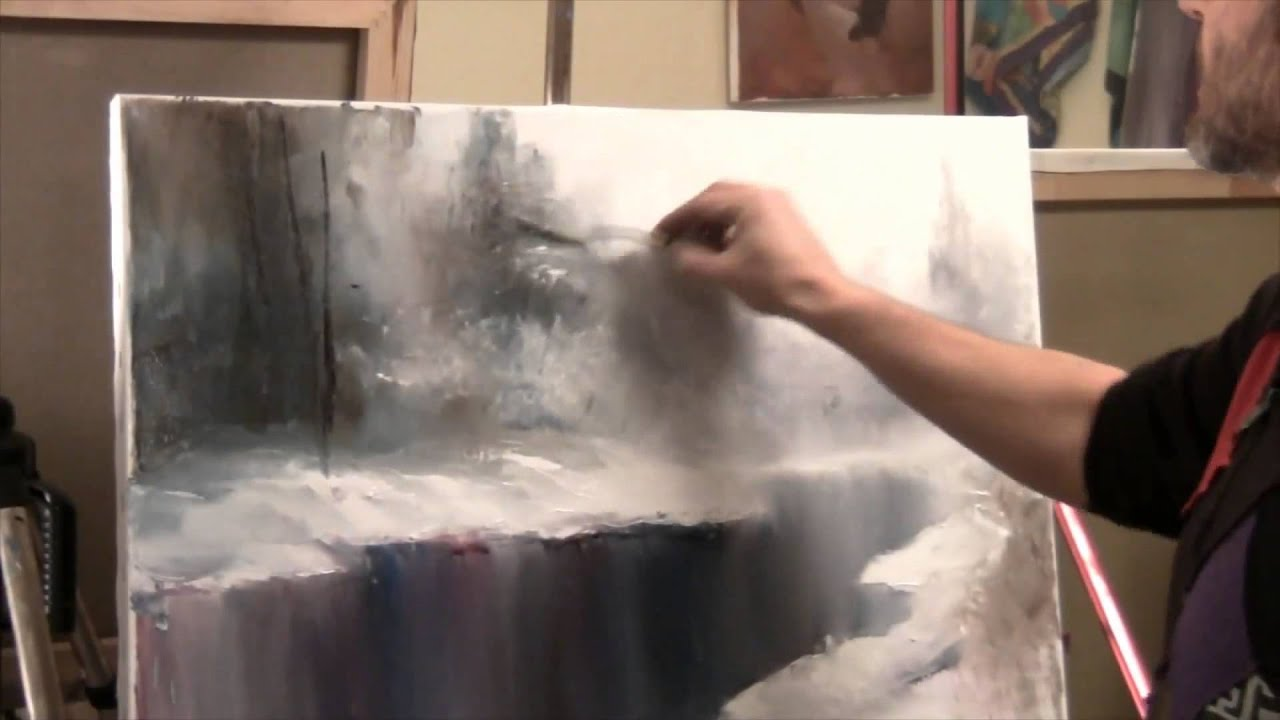 Artist Igor Sakharov How to Draw Snow Russian Bob Ross  YouTube
