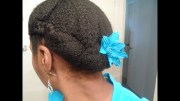 roll tuck and pin updo protective