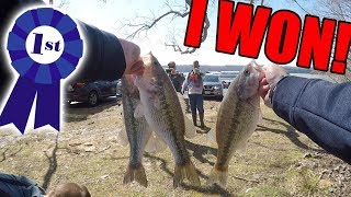 My FIRST EVER High School Bass Fishing Tournament Win! (1st Place)