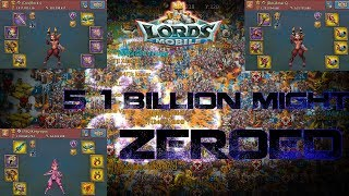 5 1 Billion Might Players ZEROED BACK TO BACK - Lords Mobile