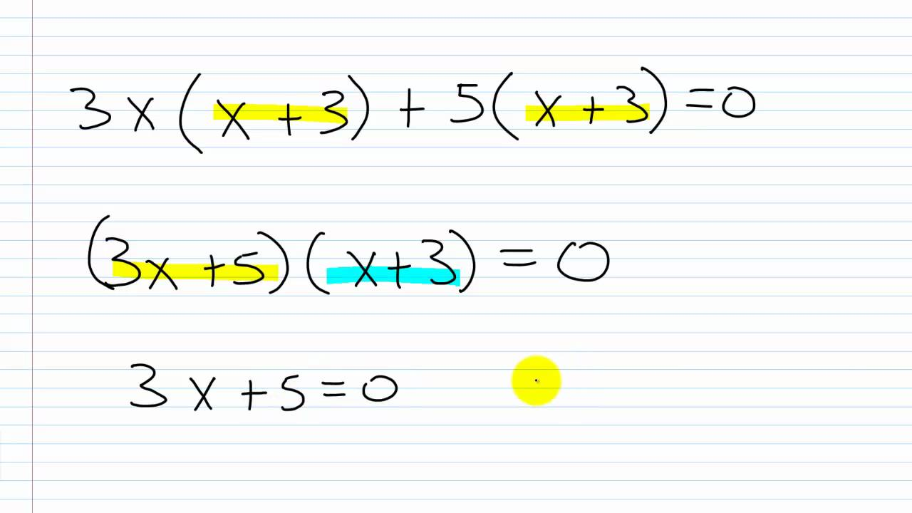 Algebra I Help: Solving Quadratic Equations by Factoring