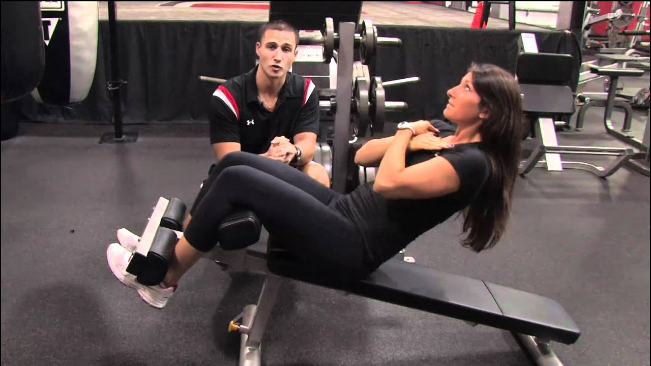 Weight Training How To Do Sit Ups On The Bench Youtube