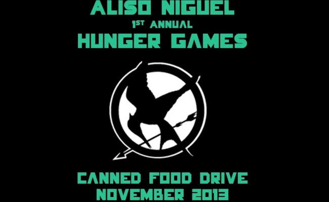 The First Annual Aliso Niguel Hunger Games Canned Food