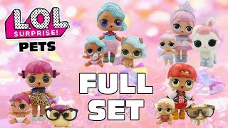 Stop Motion LOL Surprise Pets FULL SET   Complete Family Big Sisters Lil Sisters   #CollectLOL