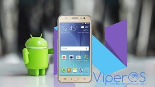 Instalando Android 7.1.2 no Galaxy J5 2015 desde o Android 6.0 + TWRP + boot loader ROM ViperOs