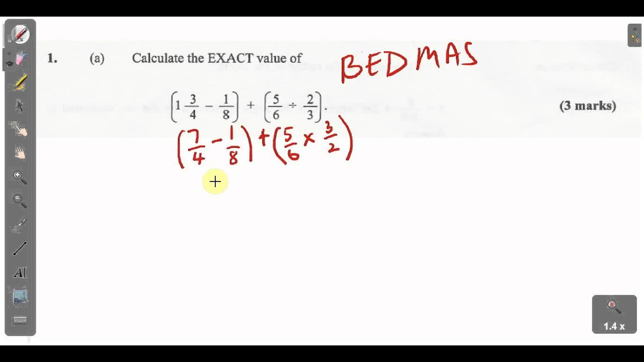 CSEC CXC Maths Past Paper 2 Question 1a January 2014 Exam