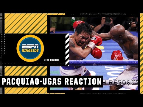 Reaction to Manny Pacquiao's loss to Yordenis Ugas   ESPN Ringside