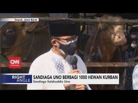 Sandiaga Uno Berbagi 1000 Hewan Kurban - Right Angle