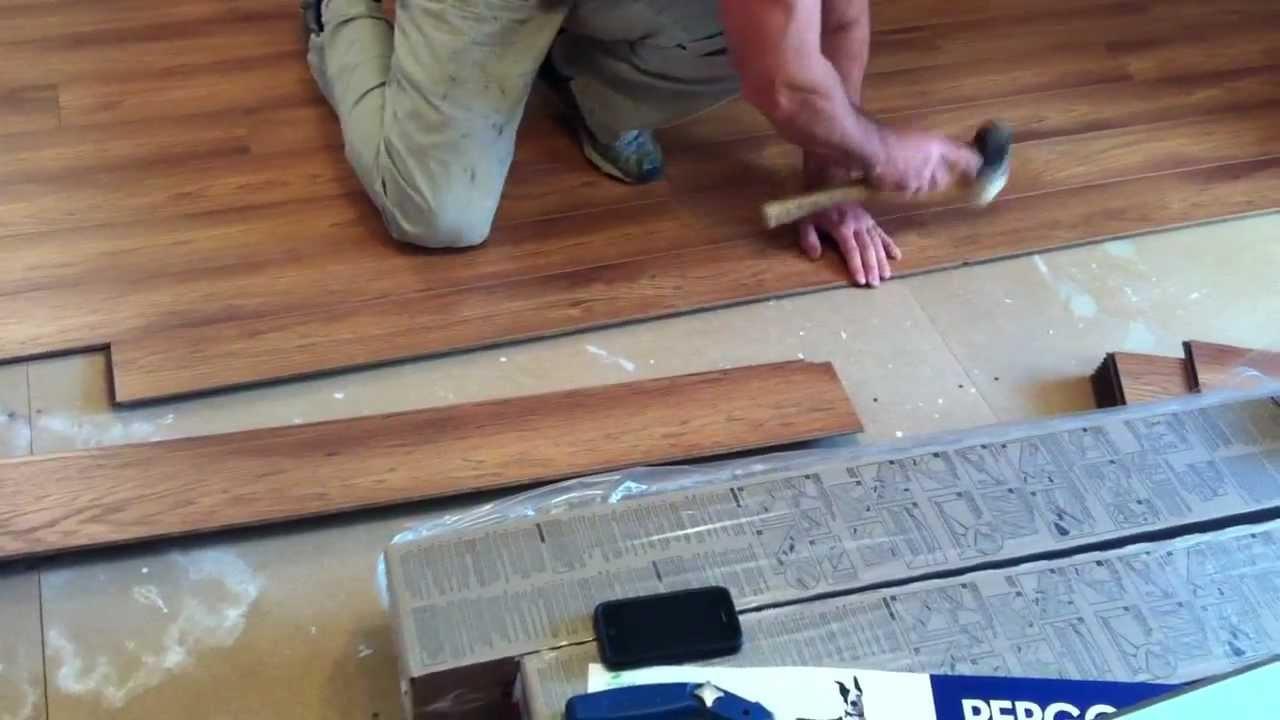 Pergo Laminate Flooring Installation  YouTube