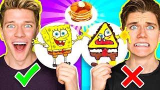 PANCAKE ART CHALLENGE 3!!! Learn How To Make Spongebob Star Wars Jedi & Wonder Woman DIY Pancake!