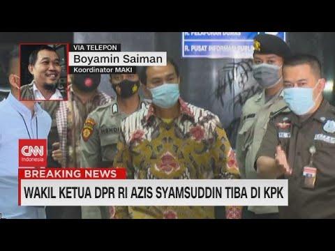 Wakil Ketua DPR RI Azis Syamsuddin Tiba di KPK
