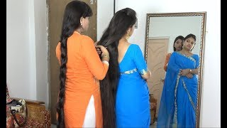 Two Most Beautiful Ladies Of India Representing Their Amazing Long Hair