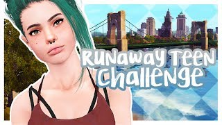 THE SIMS 3: RUNAWAY TEEN CHALLENGE | PART 2 - Almost Arrested!