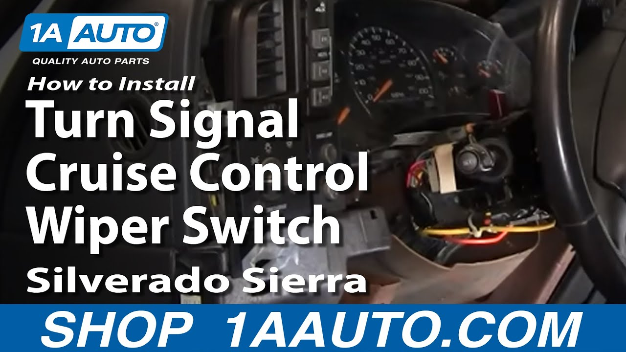 2000 gmc sierra 1500 headlight wiring diagram bass guitar how to install replace turn signal cruise control wiper switch silverado 99-02 1aauto.com ...