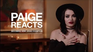 PAIGE REACTS to her first WWE Divas SURPRISE CHAMPIONSHIP