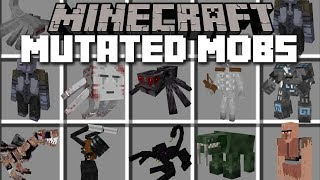 Minecraft MUTATED MOBS MOD / SURVIVE THE GIANT MOBS APOCALYPSE!! Minecraft