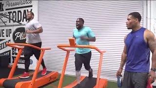 Kevin Hart & Ndamukong Suh Workout   Just-Train TV