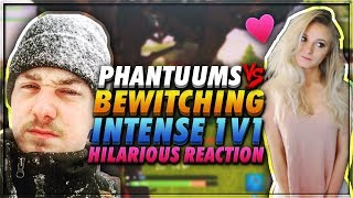 *EPIC* BEWITCHING GAMER VS PHANTUUMS *INTENSE* 1V1 HILARIOUS REACTION - FORTNITE BATTLE ROYALE