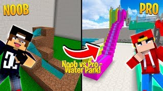 Minecraft NOOB vs PRO - WATER PARK CHALLENGE!!