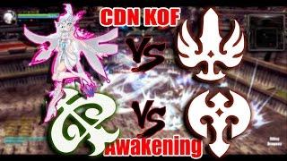 Dragon Nest China - Lv 93 Silver Hunter vs Gladiator & Tempest vs BArbarian PVP KOF #Awakening