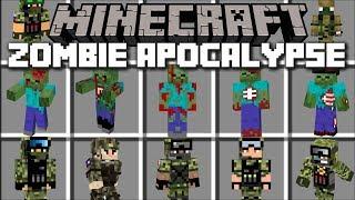 Minecraft ZOMBIE APOCALYPSE MOD / DEFEND AND FIGHT OFF EVIL ZOMBIES!! Minecraft Mods