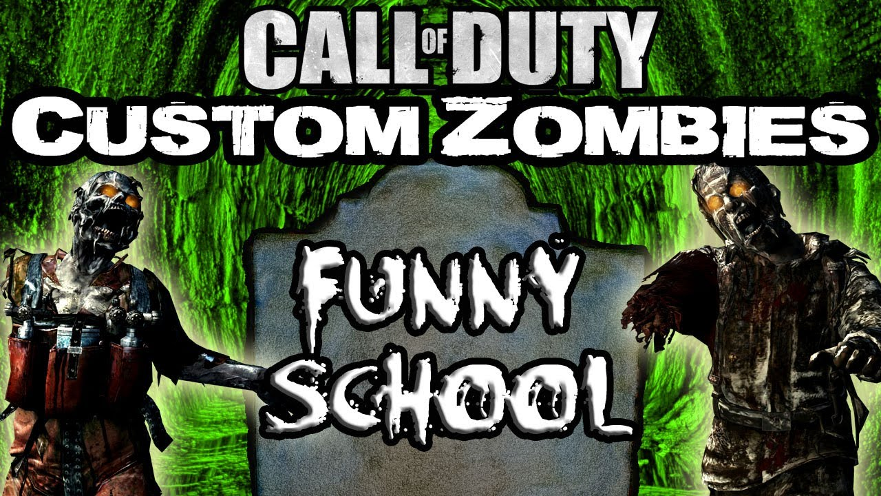 FUNNY SCHOOL Call Of Duty Zombies Zombie Games YouTube