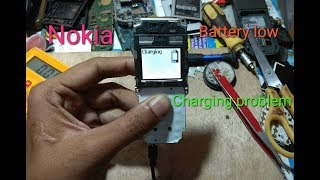 Nokia 1208 1200 1110 1600 battery low empty & charging problem solution very Easy/ rks technical