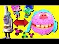 Trolls Movie Fidget Spinner Game w PlayDoh Drill N Fill Bergen Chef and Poppy, Branch & Boss Baby