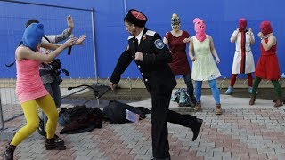 Pussy Riot attacked with whips by police at Sochi