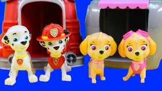 Paw Patrol Rubble's Digging Bulldozer And Marshall Pup To The Hero Playset