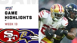 49ers vs. Ravens Week 13 Highlights | NFL 2019