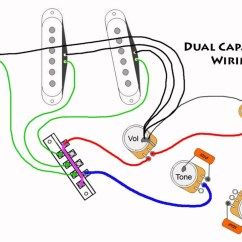 Fender Stratocaster Wiring Diagram Hss Grundfos Mq3 35 Parts Mod - Dual Capacitors Youtube