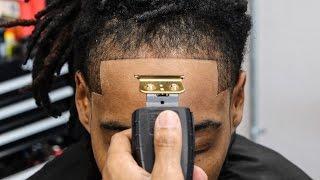 HAIRCUT TUTORIAL: DREAD TAPER | CRISPY LINE UP