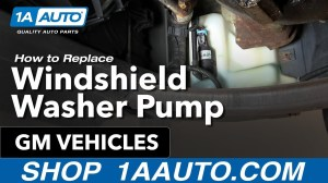 How To Install Replace Windshield Washer Pump Many GM Vehicles 1AAuto  YouTube