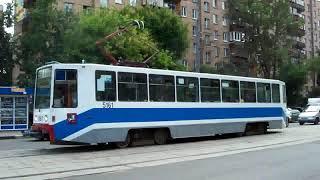 Trams of Moscow, Russia. (Московские Трамваи) - (Pусский гимн: любэ)