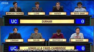 University Challenge S44E27 Durham vs Gonville and Caius, Cambridge
