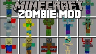 Minecraft MORE ZOMBIES MOD / FIGHT AND SURVIVE THE ZOMBIES!! Minecraft