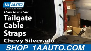 How To Install Replace Tailgate Cable Straps 200713 Chevy